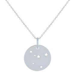 Collier en Argent Zodiaque Constellation Cancer