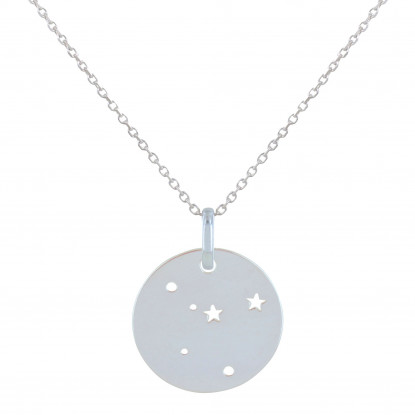 Collier Argent Constellation Cancer