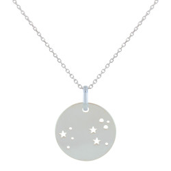 Collier en Argent Zodiaque Constellation Lion