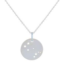 Collier en Argent Zodiaque Constellation Gémeaux