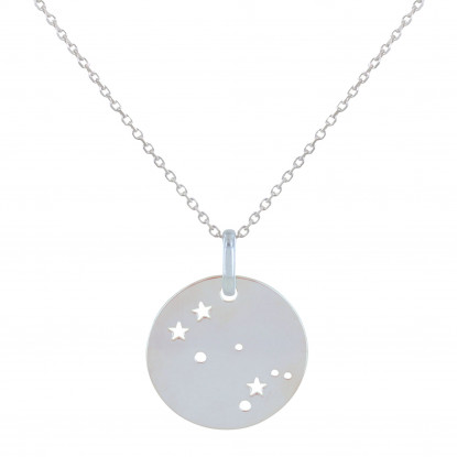 Collier Argent Constellation Gémeaux