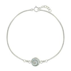 Bracelet Argent Oeil de Sainte Lucie Rond - Petit Modèle