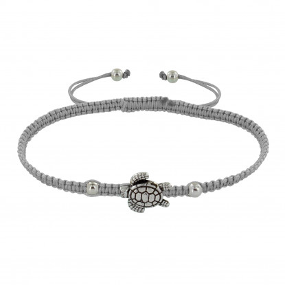 Bracelet Argent Tortue Lien Tréssé - Classics