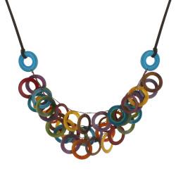 Collier Sol en Tagua Multicolore Eté