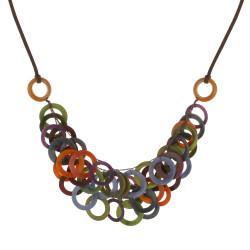 Collier Sol en Tagua Multicolore Automne