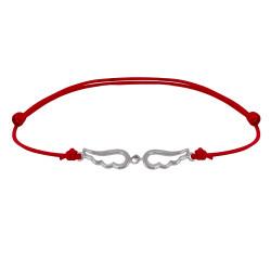 Bracelet Lien Argent Deux Petites Ailes d'Ange Ajourées