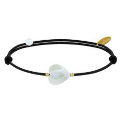 Bracelet Petit Coeur de Nacre et Perle Plaqué Or - Classics