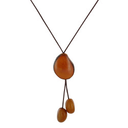 Collier Cravate Trio de Perles Tagua