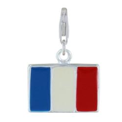 Charms Argent Drapeau de la France