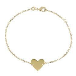 Bracelet Coeur Plaqué Or