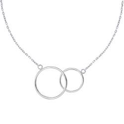 Collier Argent Deux Cercles
