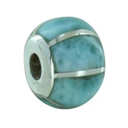 Pendentif Argent ou Perle pour Bracelet Quadrillée de Larimar