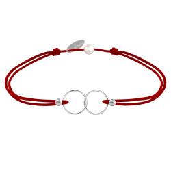 Bracelet Lien Argent Anneaux Toi et Moi - Classics