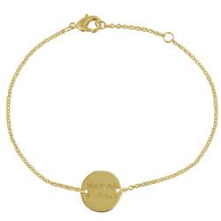 Bracelet Plaqué Or Médaille Ronde Maman d'Amour