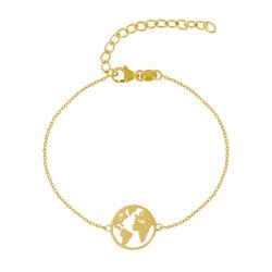 Bracelet Argent Doré Mappemonde