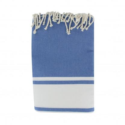 Grand Fouta Drap Plage et Hammam Coton Couleur Bleu 200 x 300cm