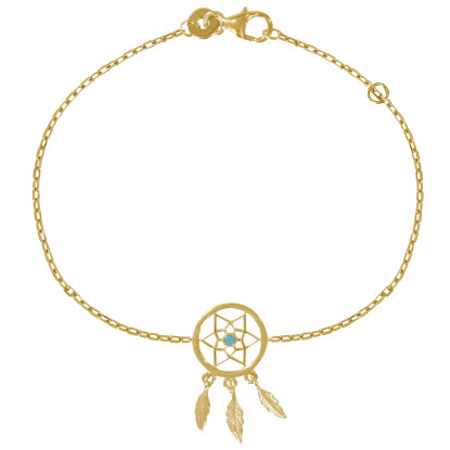 Bracelet Plaqué Or Attrape Rêve