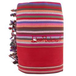 Kikoy Serviette Plage Coton Couleur Rayé Rouge