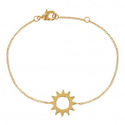 Bracelet Plaqué Or Soleil Ajouré
