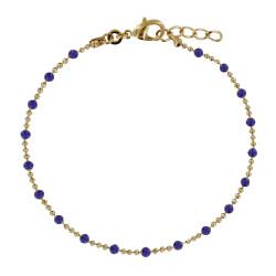 Bracelet Plaqué Or Billes et Petites Perles