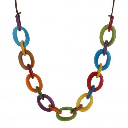 Collier Ovales en Tagua Multicolore Été