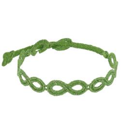 Cruciani Bracelet Dentelle Infini Lurex Vert