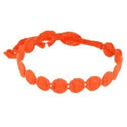 Cruciani Bracelet Dentelle Confettis Orange Fluo
