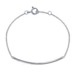 Bracelet Argent Rhodié Tube