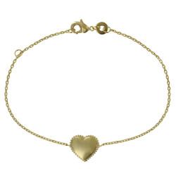 Bracelet Plaqué Or Coeur et Billes