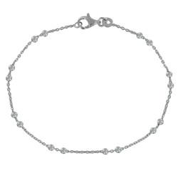 Bracelet Argent Rhodié et Billes