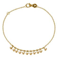 Bracelet Plaqué Or Petites Breloques Billes