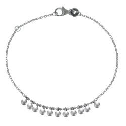 Bracelet Argent Rhodié Petites Breloques Billes