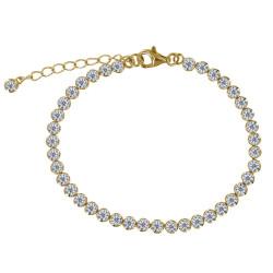 Bracelet Plaqué Or Petits Ronds de Strass