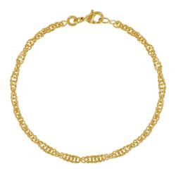 Bracelet Plaqué Or Maille Torsadée