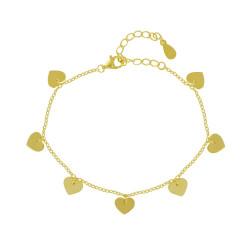 Bracelet Plaqué Or Sept Coeurs