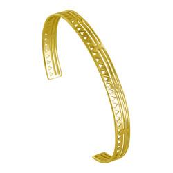 Bracelet Plaqué Or Demi Jonc Plat Soleil