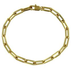 Bracelet Plaqué Or Mailles Cheval