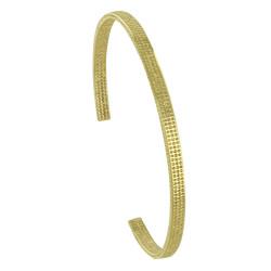 Bracelet Plaqué Or Demi Jonc Pointillés