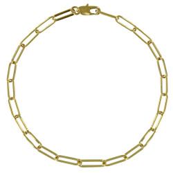 Bracelet Plaqué Or Mailles Cheval - Petit Modèle