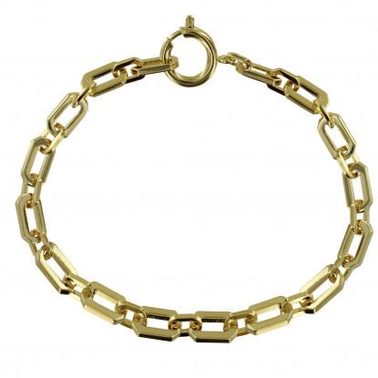 Bracelet Plaqué Or Gourmette Moyens Maillons
