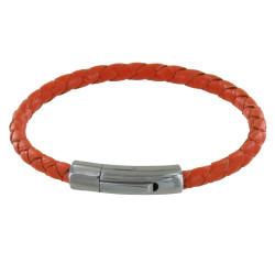 Bracelet Homme Cuir Tréssé Rond 19cm