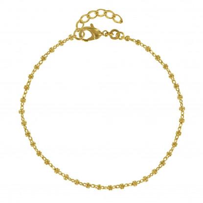 Bracelet Plaqué Or Petits Carrés