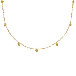 Collier Plaqué Or Petites Breloques Étoiles
