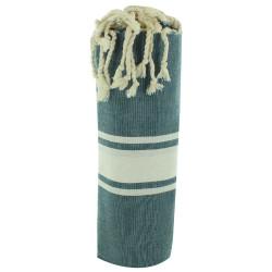 Fouta Drap Plage et Hammam Coton Couleur Vert 100 x 200cm