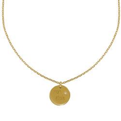 Collier Plaqué Or Médaille Ronde Gravée Mon Etoile