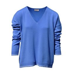 Pull Oversize 2 Rayures - Bleu