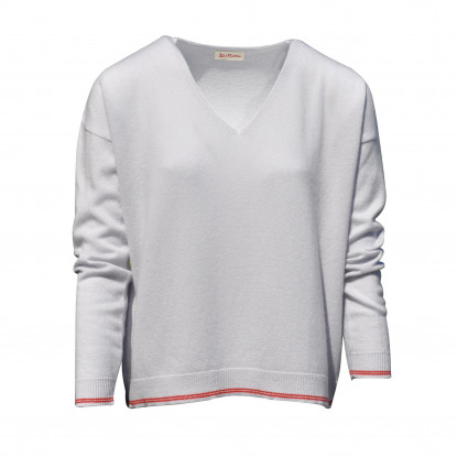 Pull Oversize 2 Rayures - Gris Clair