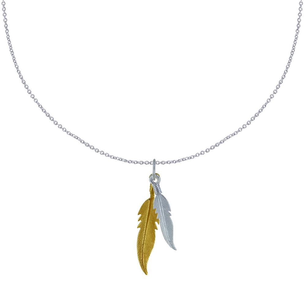 bijoux fantaisie plume argent