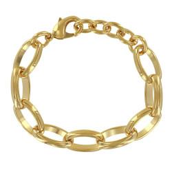 Bracelet Plaqué Or Grosses Mailles Ovales