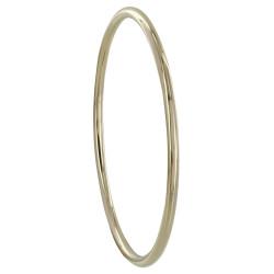 Bracelet Plaqué Or Jonc Fin Rond 6cm